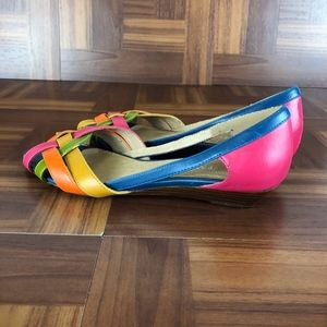 NINE WEST SAPPHIREFF Multicolor Open Toe Flat
